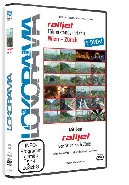 Mit dem railjet von Wien nach Zürich | DVD