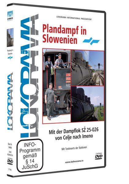04699 Plandampf in Slowenien Celje Imeno DVD 420x600 - Celje – Imeno mit der Dampflok SZ 25-026 | DVD