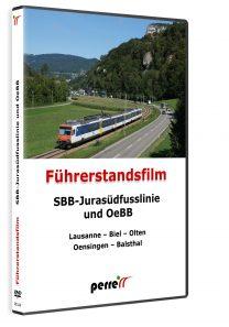 04939 Führerstandsmitfahrt Perren SBB Jurasüdfusslinie und OeBB DVD 208x297 - SBB-Jurasüdfusslinie und OeBB; von Andreas Perren | DVD