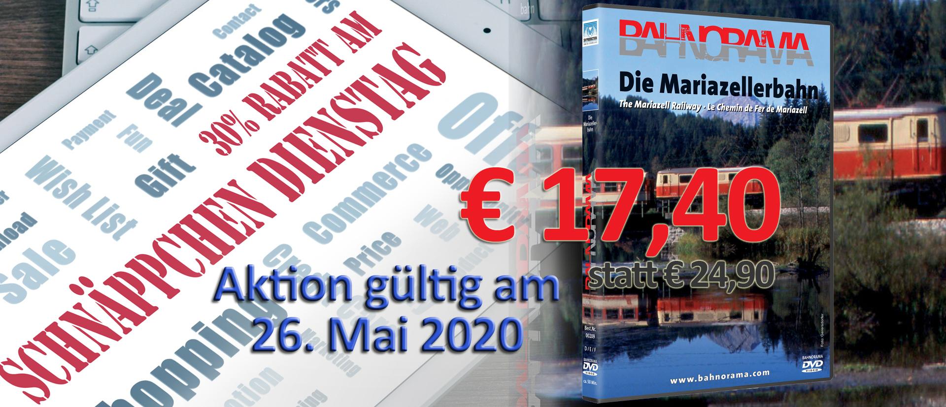 2020 05 26_schnäppchen dienstag_Mariazellerbahn