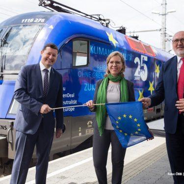 20200703 Taufe EU Lok Copyright ÖBB Andreas Scheiblecker 1 credits 375x375 - Loktaufe als Zeichen für ein stärkeres Europa
