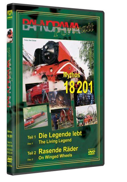 "3D Mythos18201 HGrot 420x600 - DB Rh 18. 201 Teil 1+ 2 ""Die Legende lebt"" + ""Rasende Räder"" | DVD"