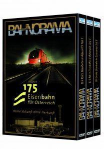 3er Box Blu ray hgrot 208x297 - 175 Jahre Eisenbahn für Österreich – Keine Zukunft ohne Herkunft | Blu-ray Edition