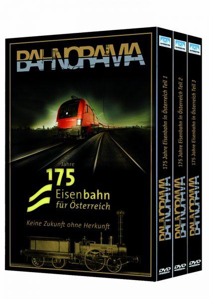3er Box Blu ray hgrot 420x600 - 175 Jahre Eisenbahn für Österreich – Keine Zukunft ohne Herkunft | Blu-ray Edition