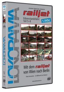 Mit dem railjet von Wien nach Berlin Teil 5-8, Nürnberg – Berlin + BONUS Berlinrundfahrt | DVD