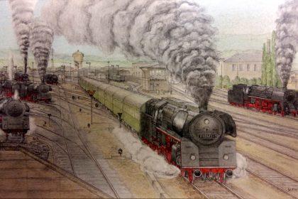 Prof. Fritz Zeichnung Saalfeld 20171010 165752b2Kontrast 420x280 - Plandampf bei der Deutschen Reichsbahn