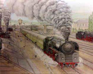 Zeichnung Saalfeld von Prof. Fritz