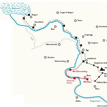 Trasse der Bregenzerwaldbahn